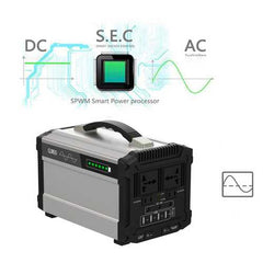 296Wh 600W Peak Solar Powered System Generator Supply Pure Sine Wave Source Energy Storage Battery