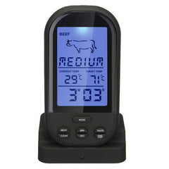 Wireless LCD Remote BBQ Thermometer For BBQ Grill Meat Kitchen Oven Food Cooking