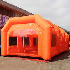 Giant Workstation Inflatable Spray Paint Booth Tent Custom with 2PCS Blower 110V 6*3*2.5m