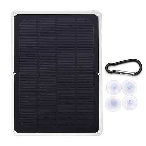 7V 1500Ma 10W USB Monocrystalline Solar Panel Photovoltaic Panel With Buckle