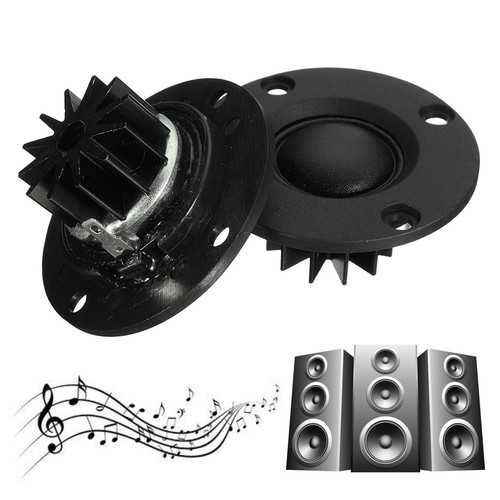 DIY Tweeter Speaker 2pcs 6Ohm 6? 30W Dome Silk Film HiFi Treble Heatsink GL Speakers