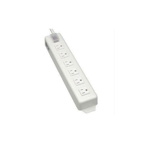 POWER STRIP METAL 120V 5-15R RIGHT ANGLE 6 OUTLET 15FEET  CORD
