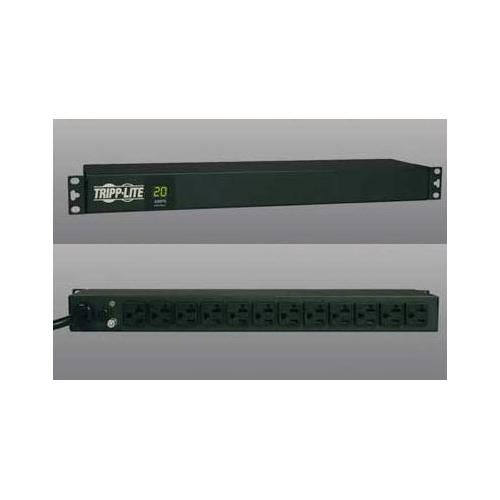 PDU METERED 120V 20A 5-15/20R 12 OUTLET L5-20P HORIZONTAL 1URM