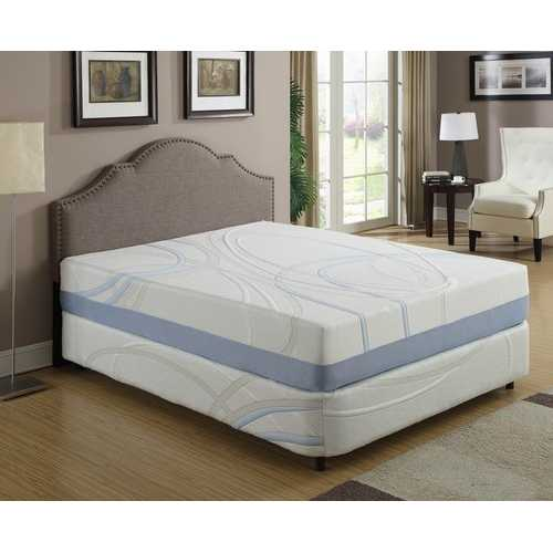 "12"" California King Charcoal and Gel Infused Memory Foam Mattress"