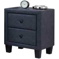 "19"" X 16"" X 22"" 2 Tone Gray Perfect Nightstand"