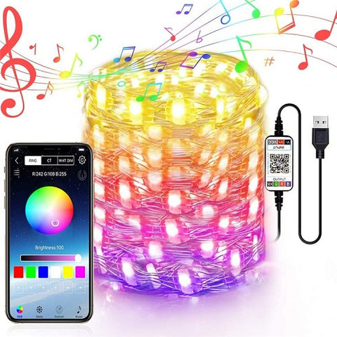 Smart Christmas LED String Lights - 5m