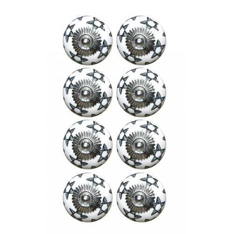 "1.5"" x 1.5"" x 1.5"" White, Silver And Gray - Knobs 8-Pack - Handyman Official Shop"