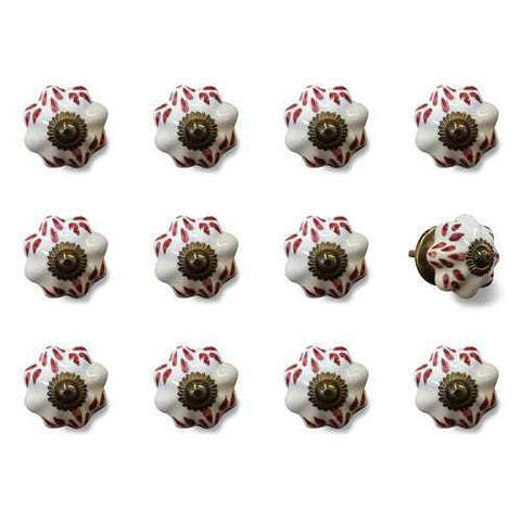 "1.5"" x 1.5"" x 1.5"" White, Burgundy and Copper- Knobs 12-Pack - Handyman Official Shop"