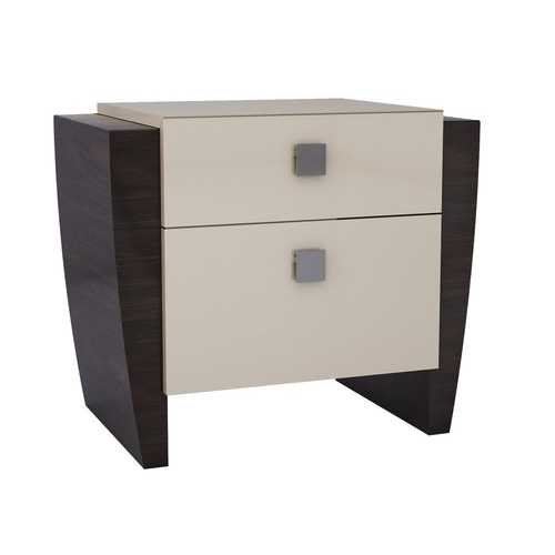 "22"" Refined Beige High Gloss Nightstand"
