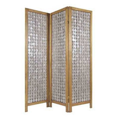 "54"" x 1.5"" x 71"" Clear, Capiz Shell - Screen"