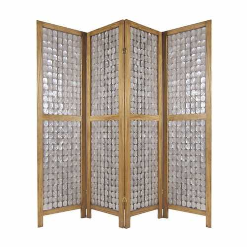 "84"" x 1.5"" x 84"" Clear, Capiz Shell - Screen"