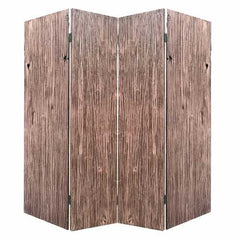 "84"" x 2"" x 84"" Brown, 4 Panel, Wood, Woodland - Screen"