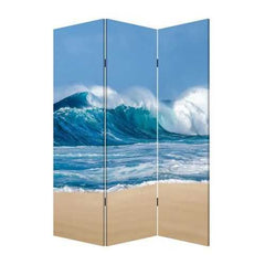 "48"" x 1"" x 72"" Multicolor, Canvas, Surf's Up - 3 Panel Screen"