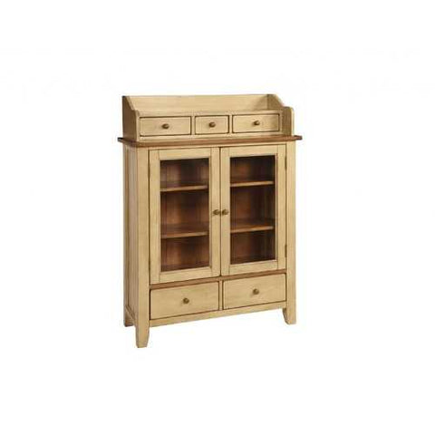 "38"" X 16"" X 54"" Two Tone Hardwood Display Cabinet"