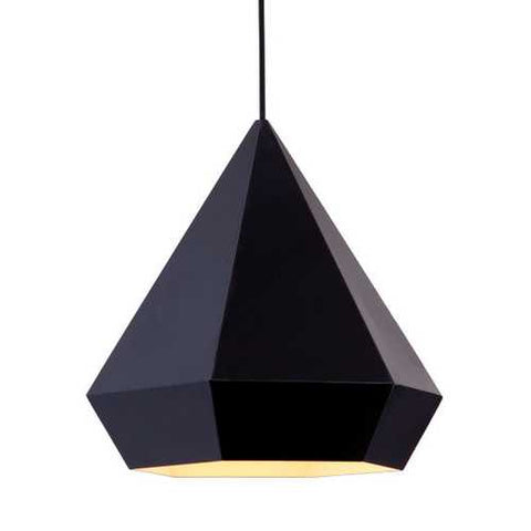 "13.8"" x 13.8"" x 13"" Black, Painted Metal, Steel, Ceiling Lamp"