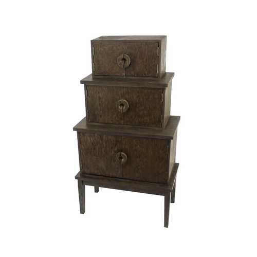 "14"" x 34"" x 60"" Brown, Wood, Cabinet"