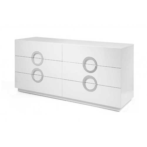 "63"" X 20"" X 30"" White Stainless Steel Double Dresser Extension"