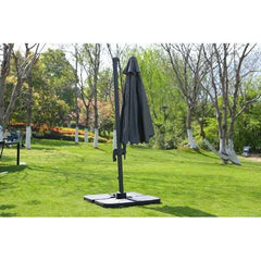"118"" X 118"" X 97"" Gray Steel Standing Umbrella"