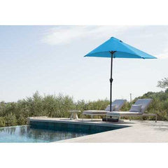 "110"" X 10"" Blue iron Side Wall Umbrella"