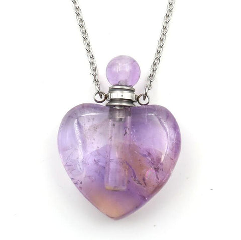Heart-shaped Aromatherapy Essential Oil Necklace