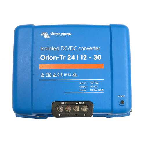 Victron Orion-TR DC-DC Converter - 24 VDC to 12 VDC - 30AMP Isolated