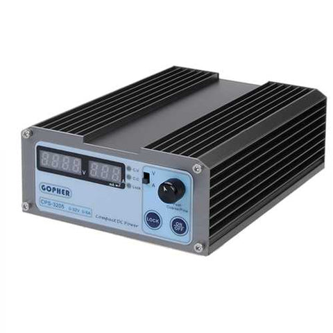 GOPHERT CPS-3205 4 Digits LED Display 110V/220V 0-32V 0-5A Adjustable DC Power Supply Switching Regulated Power Supply