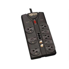 SURGE PROTECTOR POWER STRIP 120V 8 OUTLET RJ11 COAX 8FEET  CORD 2160 JOULE