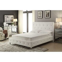 "8"" Eastern King Polyester Memory Foam Mattress Covered in a Soft Aloe Vera Fabric"