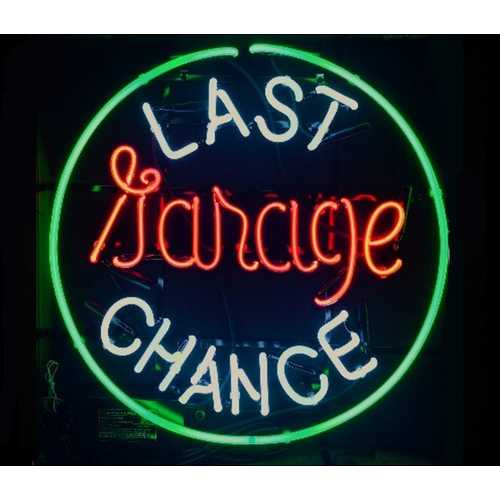 Last Chance Garage Neon Bar Sign