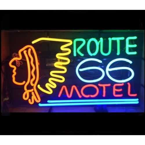 RT 66 Motel Neon Bar Sign