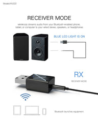 Audio Receiver Transmitter Mini Stereo Bluetooth 5.0