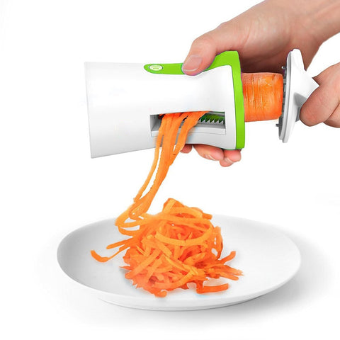 Portable Vegetable Slicer Handheld Spiralizer Peeler Spiral Slicer Stainless Steel for Potatoes Spaghetti Kitchen Accessories