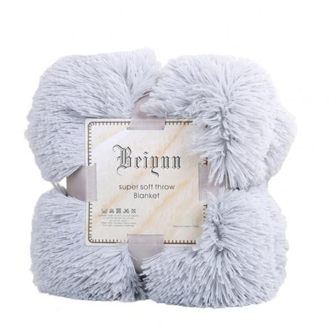 Soft  Warm Fluffy Shaggy Bed Sofa Bedspread