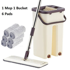 The Lazy Mop and Squeeze Bucket