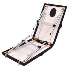 "72""L Portable Massage Table w/ Free Carry Case-Black"