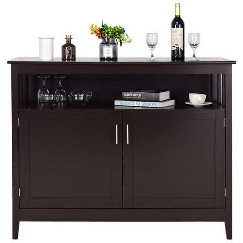 Modern Wooden Kitchen Storage Cabinet -Brown