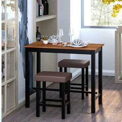 3 Piece Set Pub Dining Table with Stools