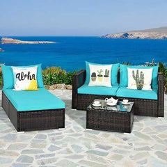 5PCS Patio Sofa Set w/ Coffee Table