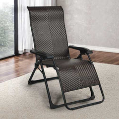 Patio Rattan Zero Gravity Lounge Chair