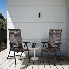 Patio Rattan Folding Chair with Armrest