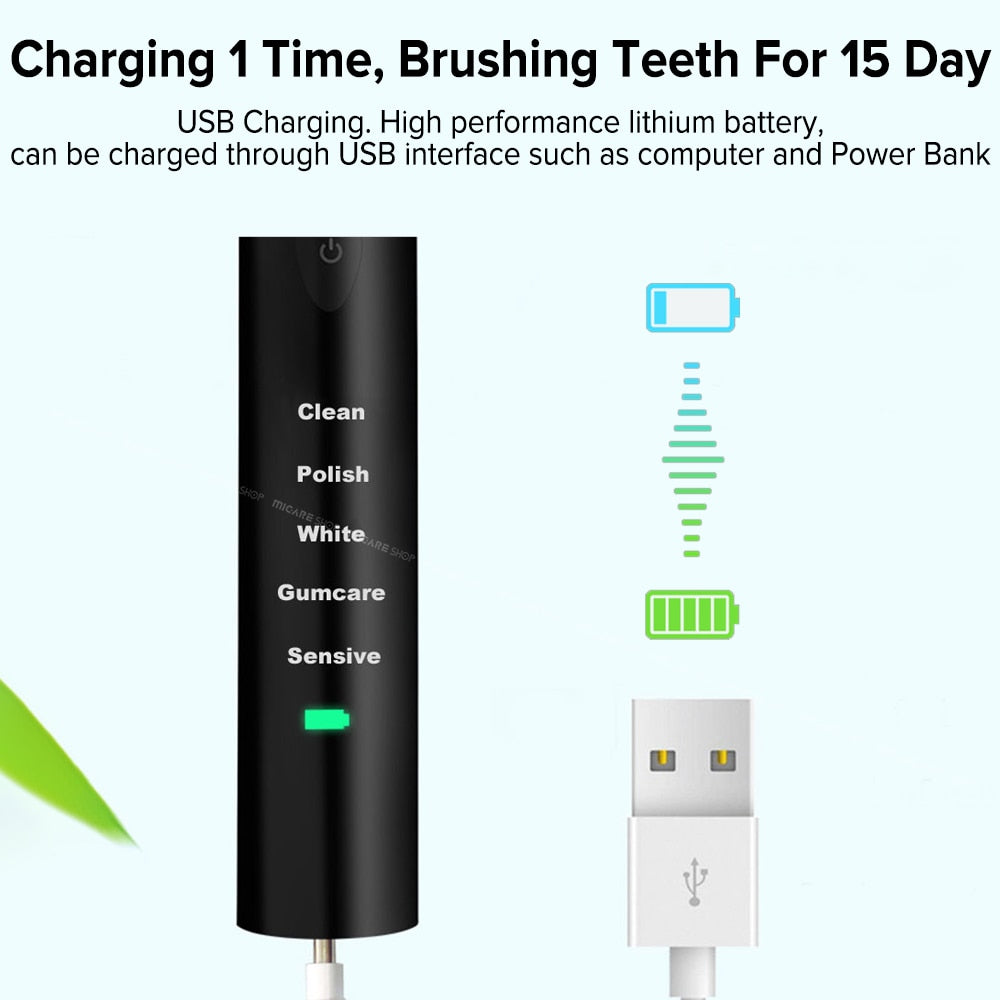 Ultrasonic Whitening Electric Toothbrush
