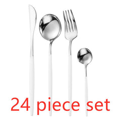 24pcs Fancy Dinnerware Set Stainless Steel