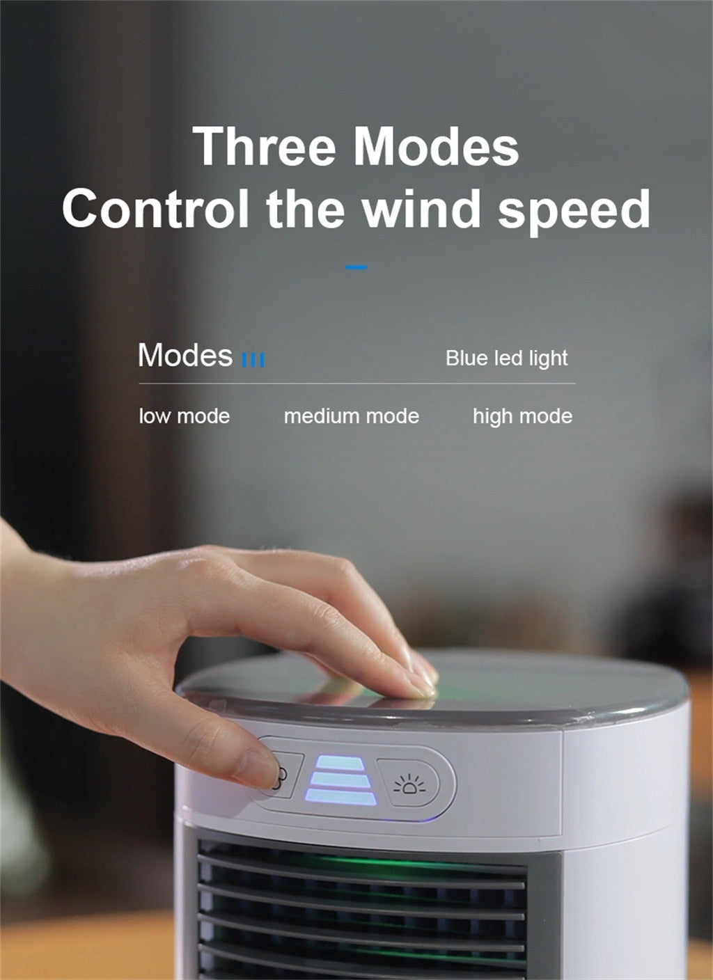 Portable Air Conditioner Usb Desktop Air Conditioning Usb Convenient Air Cooler Fan Digital Humidifier Mini Air Cooling Fan