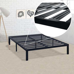 King Metal Platform Bed Frame with Heavy Duty Slats