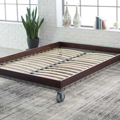 King size Heavy Duty Industrial Platform Bed Frame on Casters