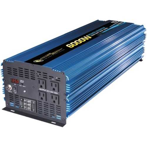 PowerBright PW6000-12 12-Volt Modified Sine Wave Inverter (6,000 Watts)