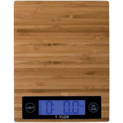 Taylor Precision Products 3828 Bamboo Digital Kitchen Scale