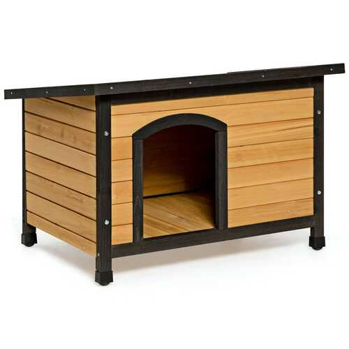 Wood Extreme Weather Resistant Pet Log Cabin-M