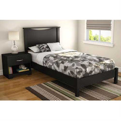 Twin size Contemporary Platform Bed Frame in Black Wood Finish