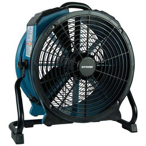 XPOWER X-47ATR X-47ATR 3,600 CFM Variable-Speed Sealed Motor Industrial Axial Air Mover/Dryer/Blower Fan with Timer and Power Outlets
